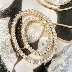 PREMIER DESIGNS Rhinestone Silver Chain Necklace